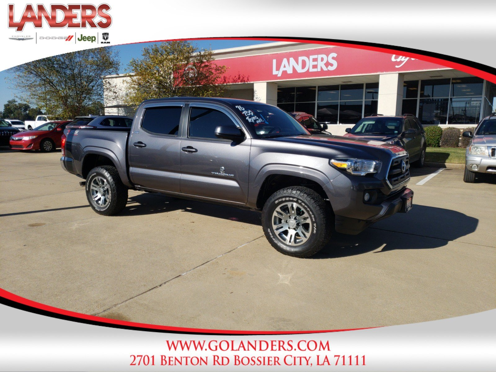 Pre Owned 2016 Toyota Ta a TRD f Road Crew Cab Pickup in Bossier